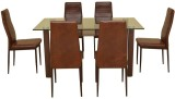 HomeTown Fieste Glass Dining Set (Finish...