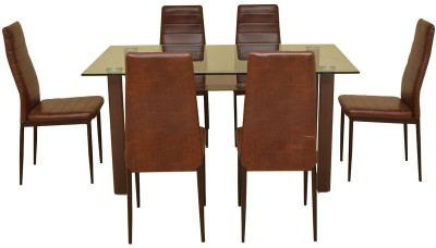 HomeTown Fieste Metal Dining Set(Finish Color - Brown)