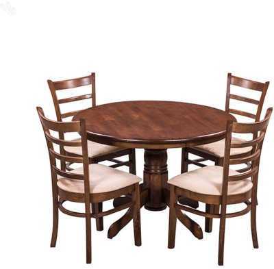 Royal Oak Solid Wood Dining Set(Finish Color - Honey Brown)