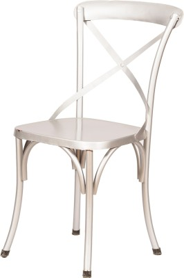 Induscraft Metal Dining Chair(Set of 1, Finish Color - Silver)