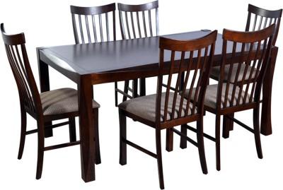 HomeTown Parker Solid Wood Dining Set(Finish Color - Brown)