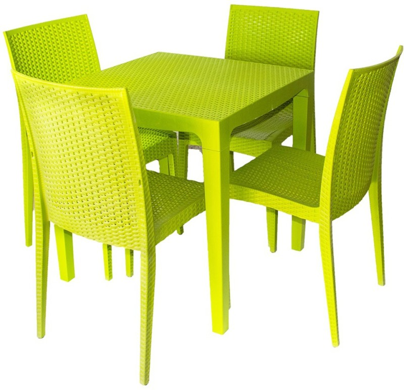 Cello Plastic Dining Set(Finish Color - Green)