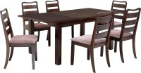 @home by Nilkamal OMAHA2 Solid Wood 6 Seater Dining Set(Finish Color - Walnut)