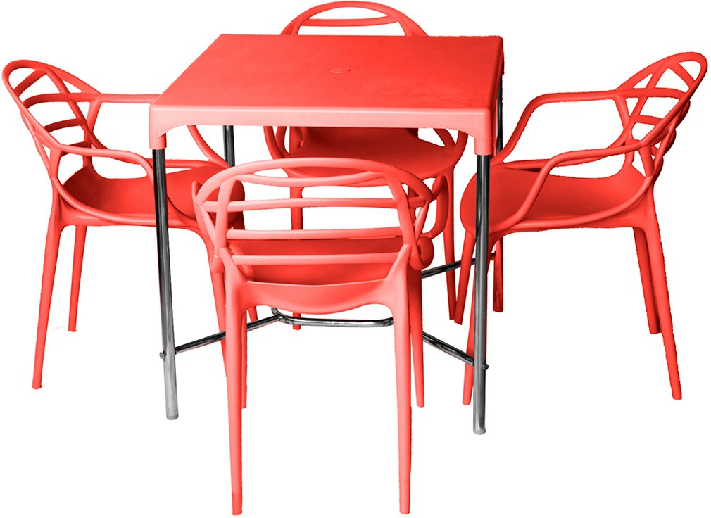 View Cello Plastic Dining Set(Finish Color - Red) Furniture (Cello)
