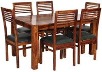 Home Edge Solid Wood 6 Seater Dining Set(Finish Color - Provincial Teak)