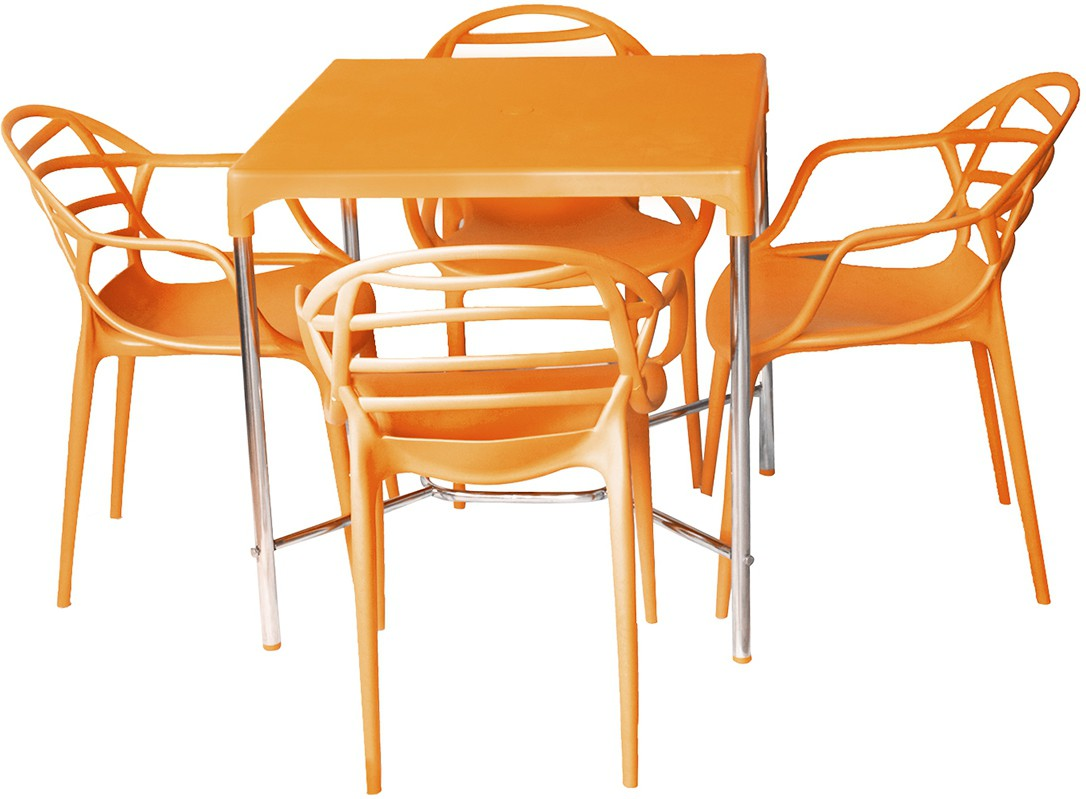 View Cello Plastic Dining Set(Finish Color - Orange) Furniture (Cello)