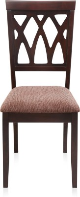 @home by Nilkamal Peak Solid Wood Dining Chair(Set of 1, Finish Color - Brown)