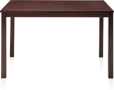 @home by Nilkamal Solid Wood 4 Seater Dining Table(Finish Color - Cappuccino)