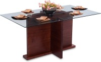 Durian TASMAN/DT Solid Wood 6 Seater Dining Table(Finish Color - Rosewood)