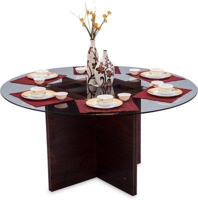 Durian CASPIAN/DT Solid Wood 6 Seater Dining Table