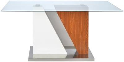 @home by Nilkamal Tectona Engineered Wood 6 Seater Dining Table