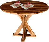 Handiana Solid Wood 4 Seater Dining Tabl...