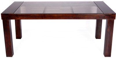Evok Safford Solid Wood 6 Seater Dining Table(Finish Color - Walnut)