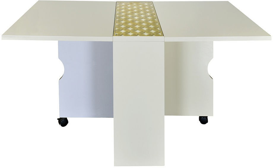 @home by Nilkamal Skyline Engineered Wood 4 Seater Dining Table class=