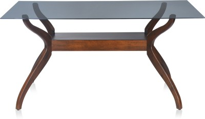 Nilkamal Lopez Solid Wood 6 Seater Dining Table(Finish Color - Brown)