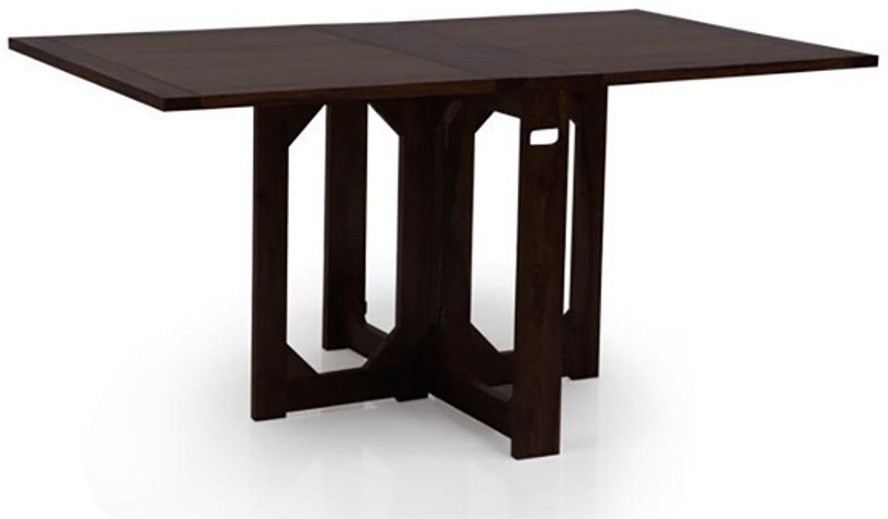 View IKEA Solid Wood 4 Seater Dining Table(Finish Color - Light Dark) Furniture (IKEA)