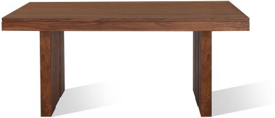 @home by Nilkamal Solid Wood 6 Seater Dining Table(Finish Color - Walnut)