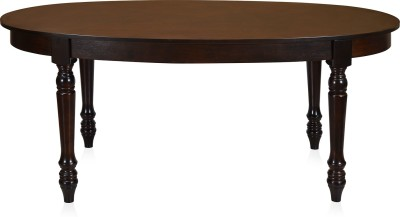 @home by Nilkamal Solid Wood 6 Seater Dining Table
