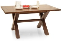 TheArmchair Clovis Solid Wood 6 Seater Dining Table(Finish Color - Walnut)