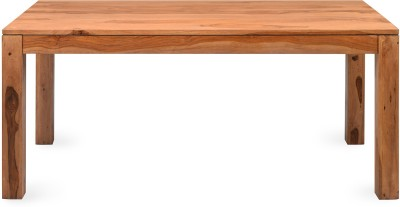 @home by Nilkamal Solid Wood 6 Seater Dining Table(Finish Color - New Natural)