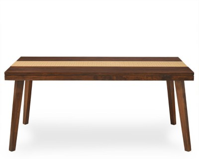 @home by Nilkamal Matrix Solid Wood 6 Seater Dining Table