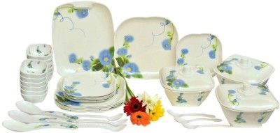 KUNKA Dinner set Pack of 40 Dinner Set(Melamine)