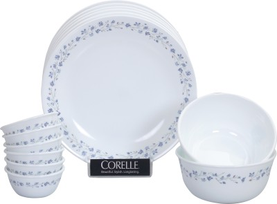 Corelle Lilac Blush Pack of 14 Dinner Set(Glass)