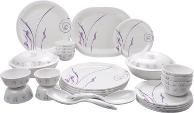 Mehul Glazed Melamine D-1001 BOOMER 31 Pcs Pack of 31 Dinner Set