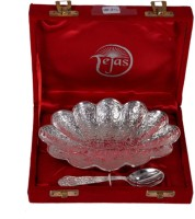 India Shoppe Pack of 2 Dinner Set(Silver Plated)