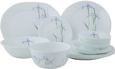 Corelle Asia Collection Shadow Iris Pack of 21 Dinner Set(Glass) at flipkart