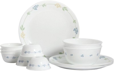 Corelle Livingware Secret Garden Pack of 14 Dinner Set(Glass)