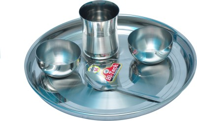 life line services Pack of 5 Dinner Set(Stainless Steel)