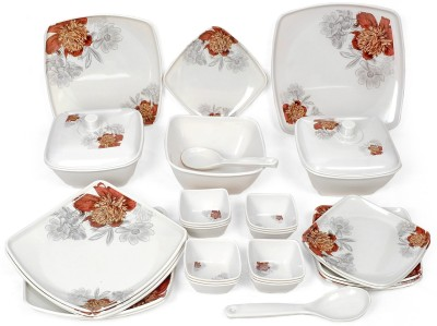 Navkar-Cp Pack of 32 Dinner Set(Melamine)