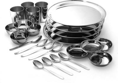 Bharat Pack of 24 Dinner Set(Stainless Steel)