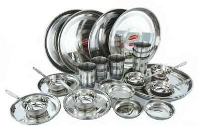 Sheetal gold 36 - Stainless Steel Dinner Set Pack of 36 Dinner Set