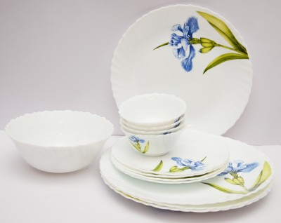 La Opala Royal Iris Pack of 19 Dinner Set