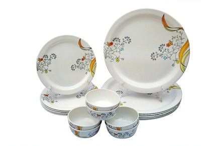 Rosa Italiano Yellow Orchid Pack of 18 Dinner Set