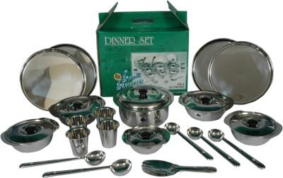 SAIL SALEM STAINLESS 20 Pcs Dinner Set Salad Bowl Model Dinner Set(Stainless Steel)