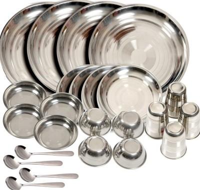 Shivom Pack of 24 Dinner Set(Stainless Steel)