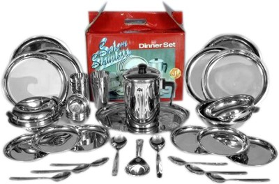SAIL SALEM STAINLESS Pack of 37 Dinner Set(Stainless Steel)