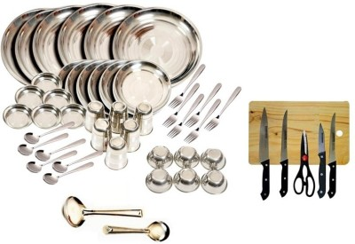 Kitchen Pro Pack of 49 Dinner Set(Stainless Steel)