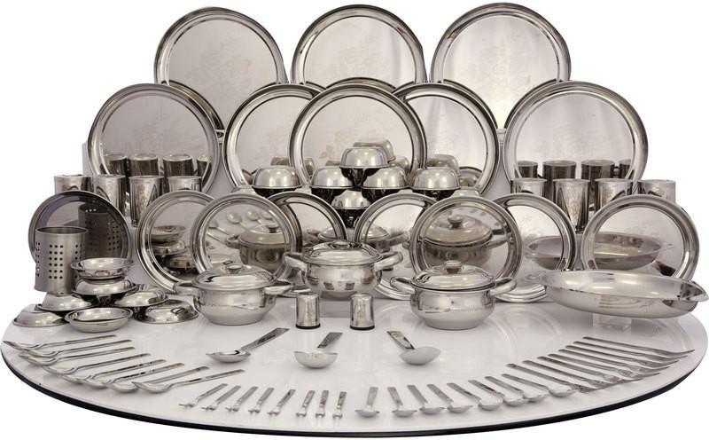 Shri & Sam Pack of 101 Dinner Set(Stainless Steel)