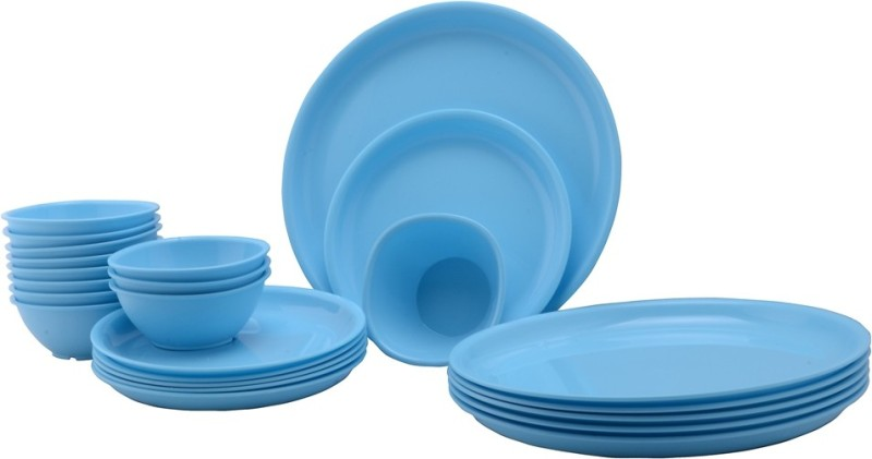 Gluman Pack of 24 Dinner Set(Polypropylene)