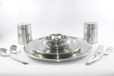 Clobber Pack of 14 Dinner Set(Stainless Steel)