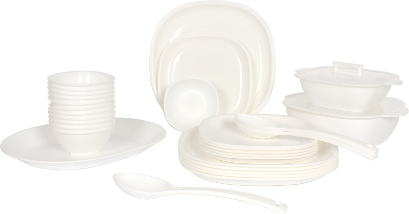 Gluman Pack of 32 Dinner Set(Polypropylene)