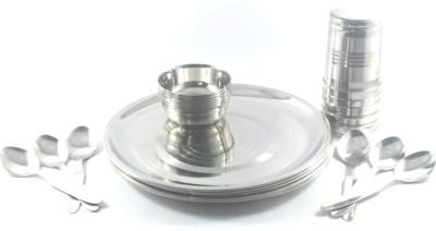 Clobber Pack of 24 Dinner Set(Stainless Steel)
