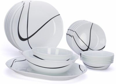 Corelle India Impressions Twists & Turns Pack of 21 Dinner Set