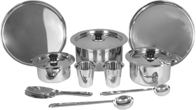 SAIL SALEM STAINLESS 10 Pcs Dinner Set Tope Model Pack of 10 Dinner Set(Stainless Steel)