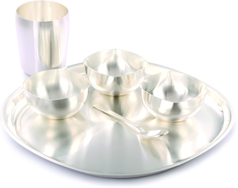 Ojas Pack of 6 Dinner Set(Silver Plated)