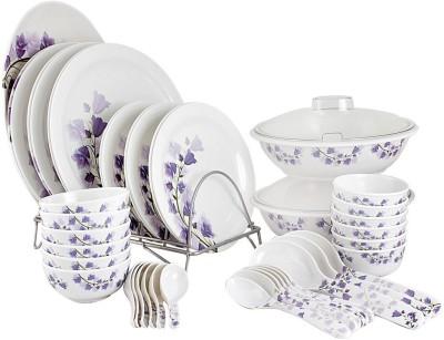 White Gold Purple Tulip Pack of 44 Dinner Set